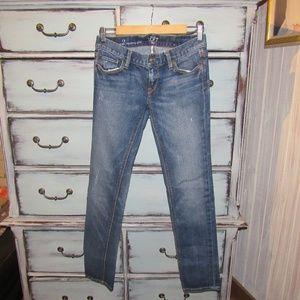 Ann Taylor Loft Modern Slim Distressed Jeans 2